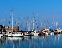 Sailboats And Pleasure Craft In Heraklion Crete Greece Royalty Free Stock Photo