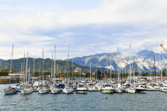 Sailboats port Royalty Free Stock Image