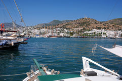 Sailboats in the Port of Bodrum Royalty Free Stock Photo