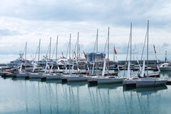 Sailboats. In the port of Sochi Russia Stock Images