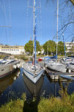 Sailboats in the port of Vannes in France Royalty Free Stock Image