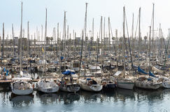 Sailboats in Port Vell Royalty Free Stock Photos