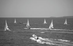 Sailboats racing Stock Photos