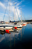 Sailboats reflections Royalty Free Stock Photo
