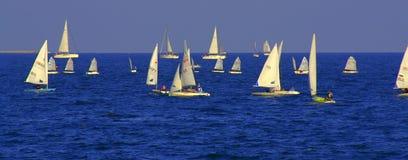 Sailboats regatta banner Stock Photo