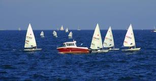 Sailboats regatta Stock Image