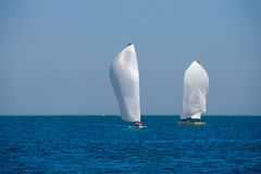 Sailboats regatta sailing in Mediterranean Stock Image