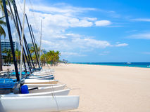 Sailboats for rent at Fort Lauderdale beach in Florida Royalty Free Stock Image