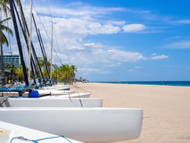 Sailboats for rent at Fort Lauderdale beach in Florida Royalty Free Stock Images