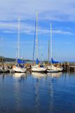 Sailboats at rest Royalty Free Stock Photo