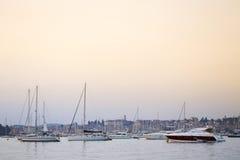 Sailboats in Rovinj Stock Photography