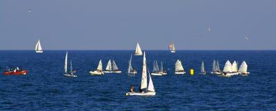 Sailboats run banner Stock Image