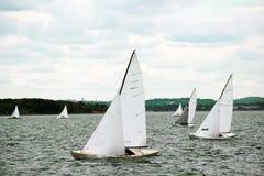 Sailboats sail on the sea Stock Image