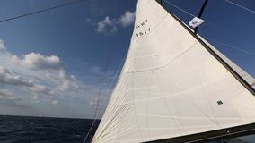 Sailboats during sailing regatta in the Sea. Luxury. stock footage