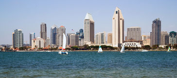 Sailboats San Diego California Downtown City Skyline Waterfront stock images