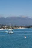 Sailboats by Santa Barbara Beach Stock Photos