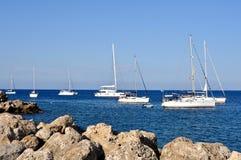 Sailboats in the sea Stock Photos