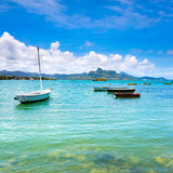 Sailboats in a sea Royalty Free Stock Images