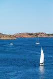 Sailboats at sea Stock Image