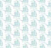 Sailboats seamless pattern. Stock Photography