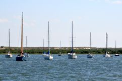 Sailboats on St. Augustine river Stock Photo