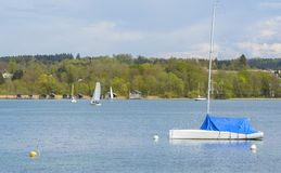 Sailboats on Starnberger lake Stock Photography