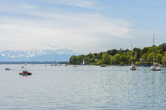 Sailboats on Starnberger See, Germany Royalty Free Stock Image