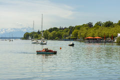 Sailboats on Starnberger See, Germany royalty free stock photography