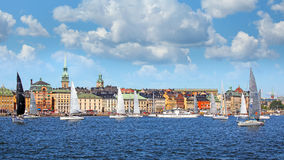 Sailboats in Stockholm city Royalty Free Stock Photography