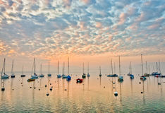 Sailboats Sunrise Royalty Free Stock Image
