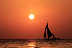 Sailboats at sunset Royalty Free Stock Photo