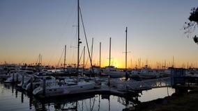 Free Sailboats Tethered At The Marina Dock At Sunset In San Diego California Royalty Free Stock Photography - 140954317