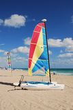 Sailboats in tropical resort Stock Image