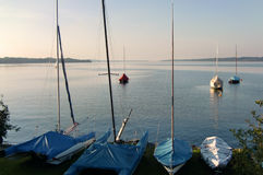 Sailboats on the water Royalty Free Stock Images