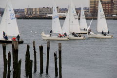 Sailboats on the water,Boston,March 1st,2014 Stock Photography