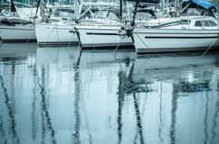 Sailboats in the water Stock Photos