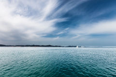 Sailboats on the water, seascape Royalty Free Stock Image