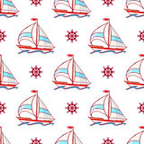 Sailboats and wheels Stock Image