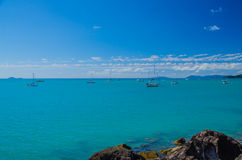 Sailboats in the Whitsunday Islands Royalty Free Stock Photography