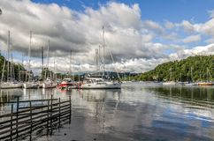 Sailboats at Windermere at Bowness Stock Photography