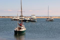 Sailboats and yachts out on Block Island,September 15th,2012 Stock Photo