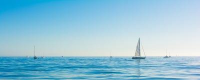 Sailbot on the ocean Royalty Free Stock Photos