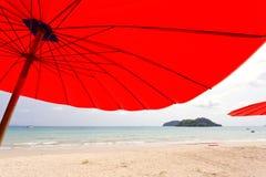 Sailer on beach Stock Photography