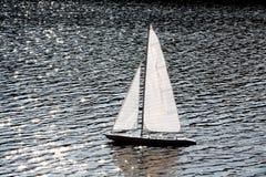 Sailer ( model )  in river Stock Images