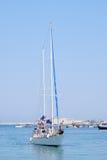 Sailer in the sea Stock Photo