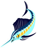 Sailfish diving Stock Image