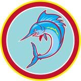 Sailfish Fish Jumping Circle Cartoon Royalty Free Stock Photography