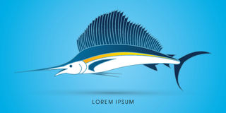 Sailfish graphic vector. Royalty Free Stock Images