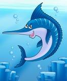 sailfish morza dopłynięcie ilustracja wektor