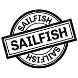 Sailfish rubber stamp Royalty Free Stock Images